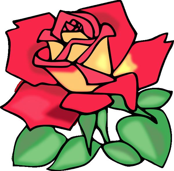 600x588 Rose Clipart Cartoon