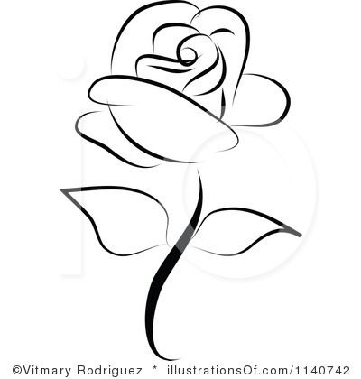 400x420 Rose Clipart Simple Rose