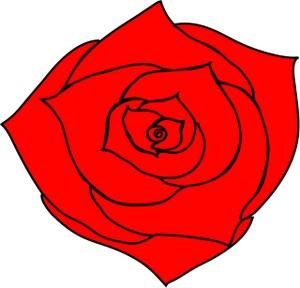 300x288 Simple Rose Clip Art Clipart Panda