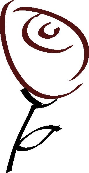 306x595 Simple Rose Clip Art