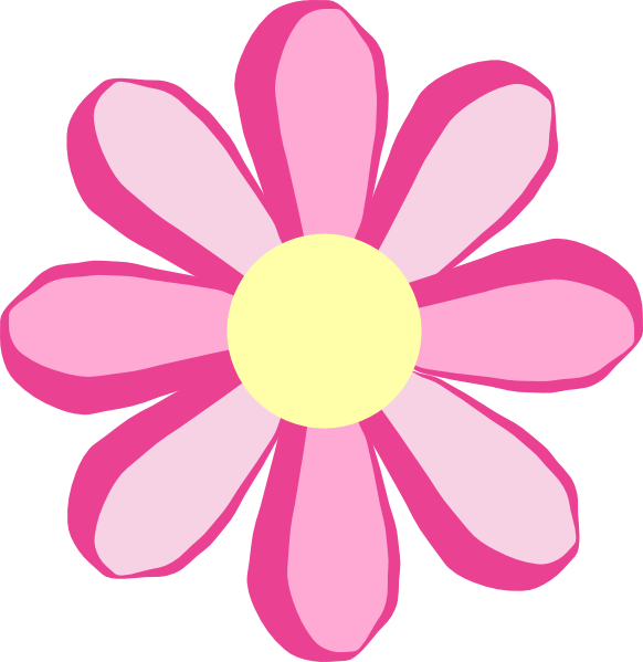582x599 Pink Flower Clip Art