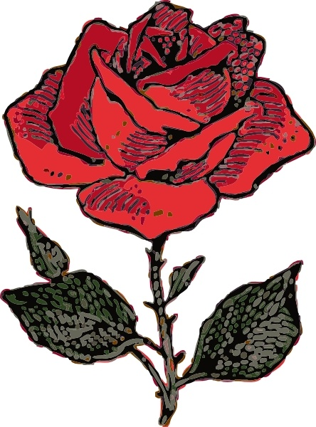 444x600 Rose Clip Art Free Vector In Open Office Drawing Svg ( Svg