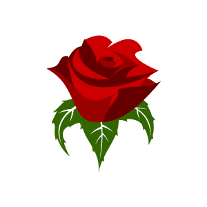 300x300 Rose Clipart Graphic