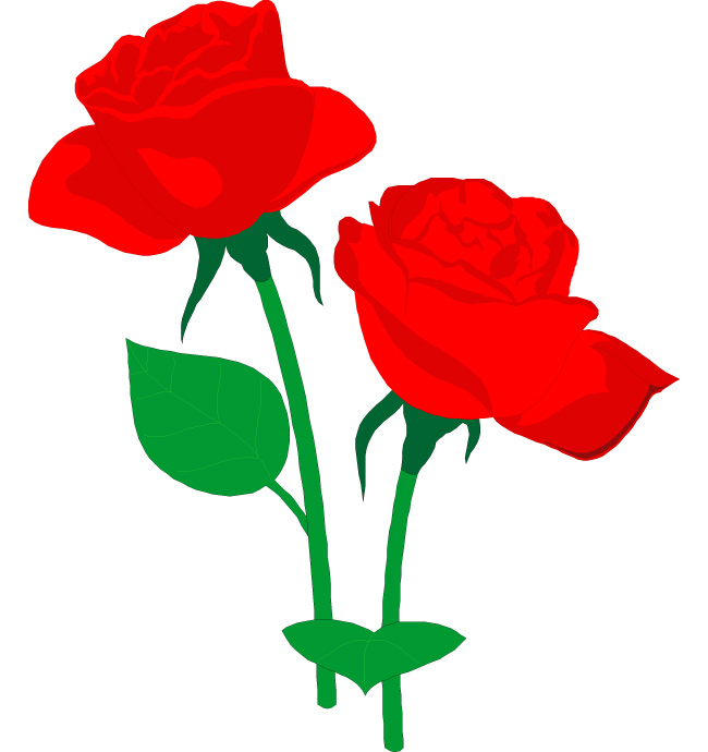 650x690 Roses Clipart