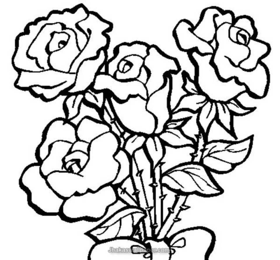 960x892 get this online roses coloring pages for adults 88275