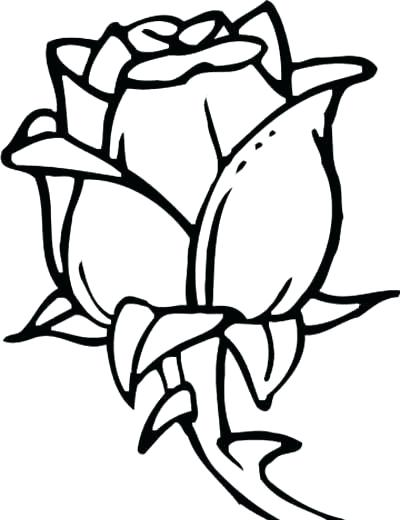400x520 coloring page rose startupharborme - Coloring Pages Of Roses