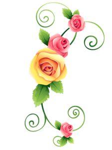 Rose Corner Clipart