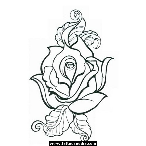 4387a75c8 Rose Drawing Outline | Free download best Rose Drawing Outline on ...