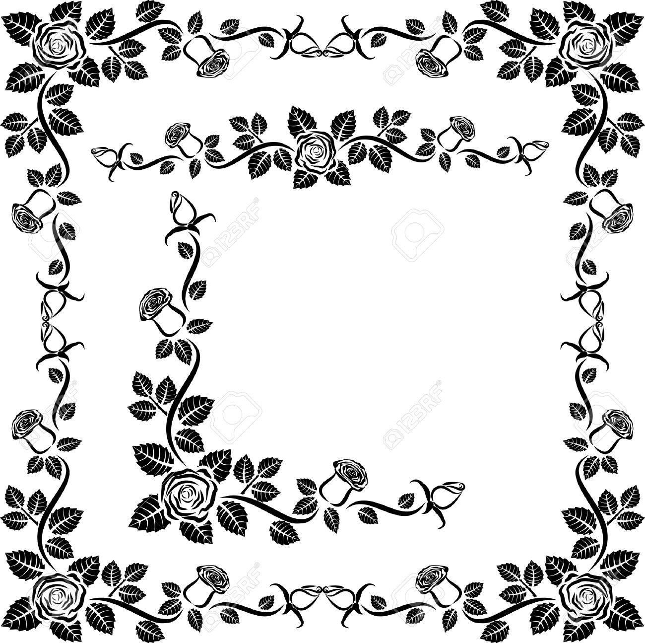 1300x1295 Gaeroladid White Rose Border Clip Art Images