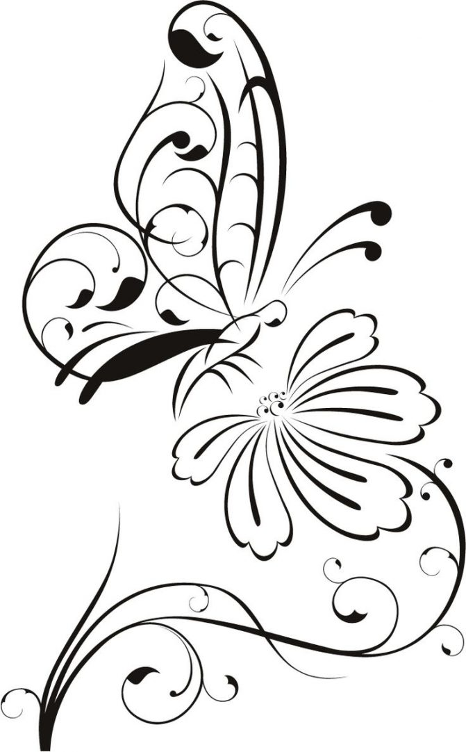 671x1082 Coloring Pages Flower Outline Drawing Line Coloring Pages Flower