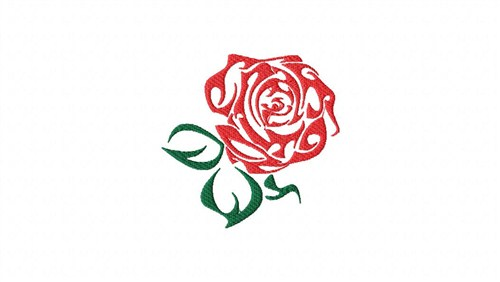 500x282 Red Rose Outline Embroidery Designs, Free Machine Embroidery