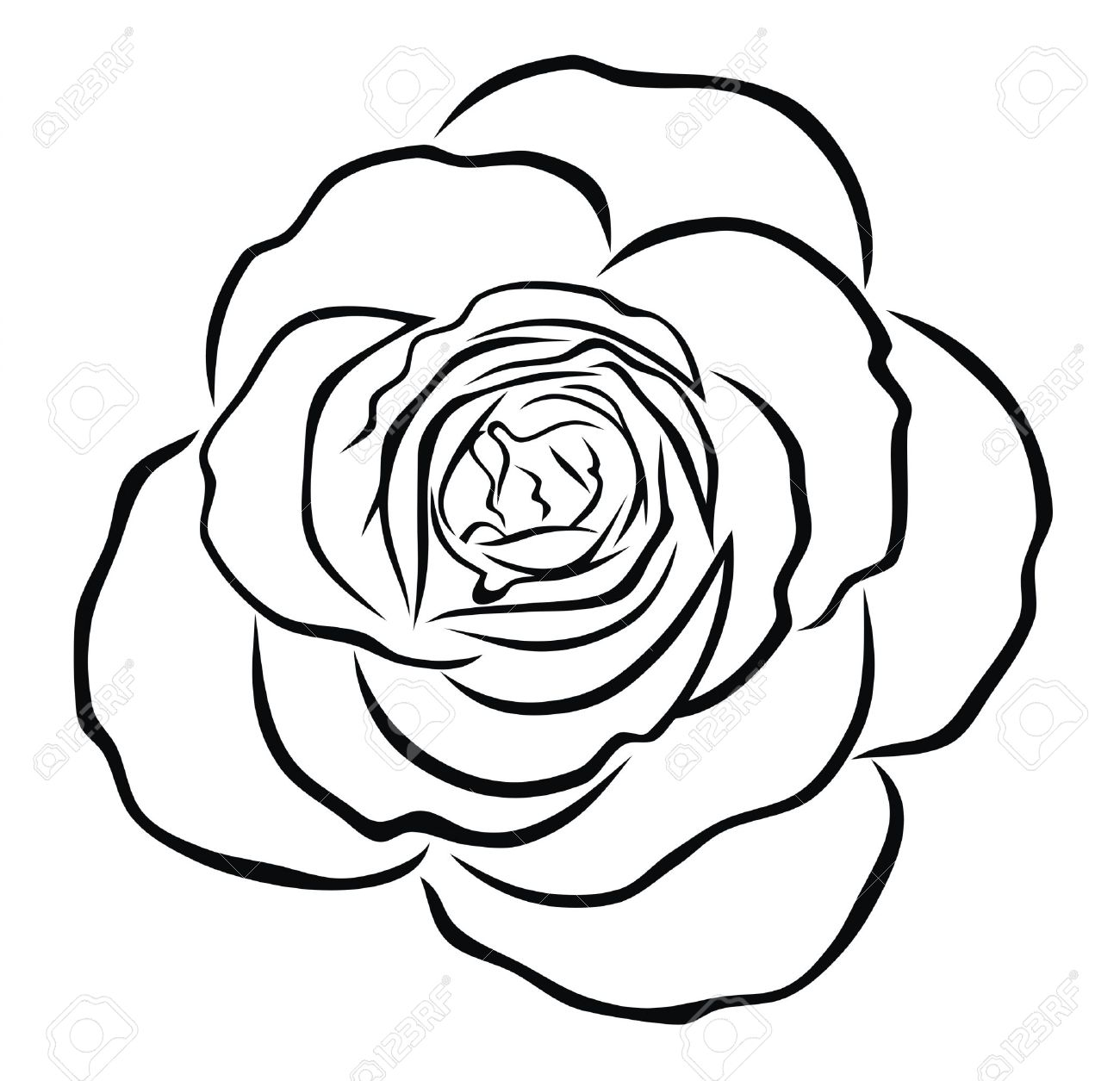 Rose Outline | Free download best Rose Outline on ...