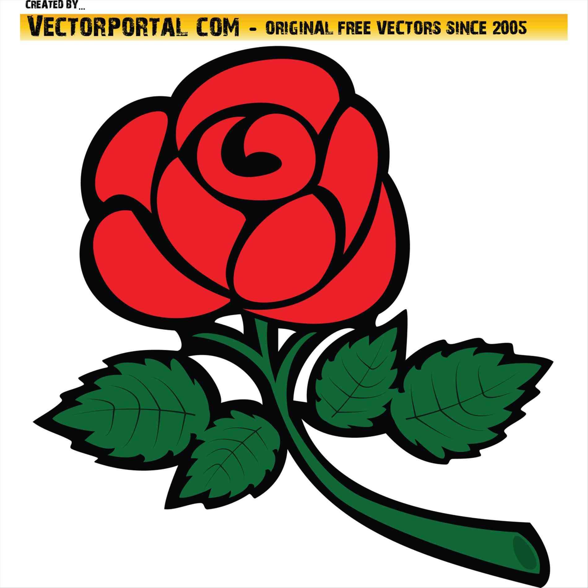 1899x1899 Red Rose Vector Png Urldircom