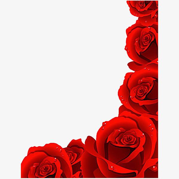 600x600 Red Rose Petals Vector Material, Red Rose Petals Vector Material
