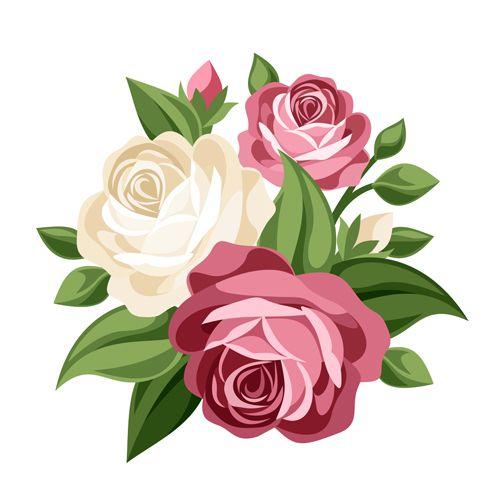 500x500 Best Vector Flowers Ideas Vectors, Rose Doodle