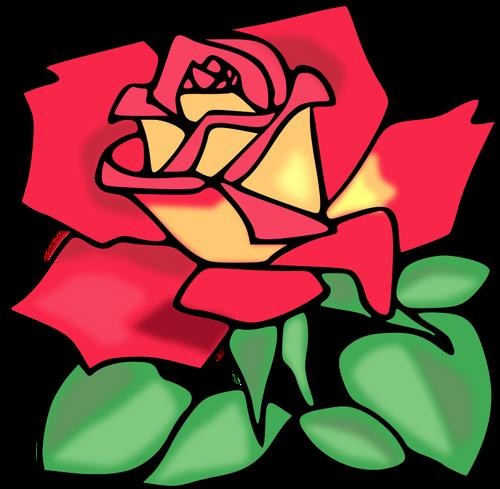 500x489 Red Rose Vector Clip Art Public Domain Vectors