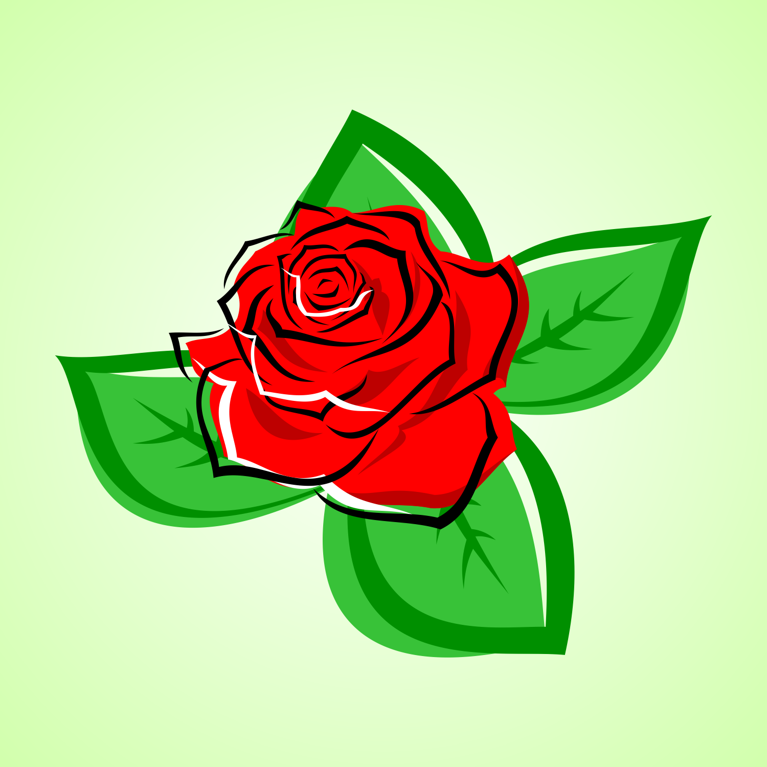 1500x1500 Vector For Free Use Red Rose Vector
