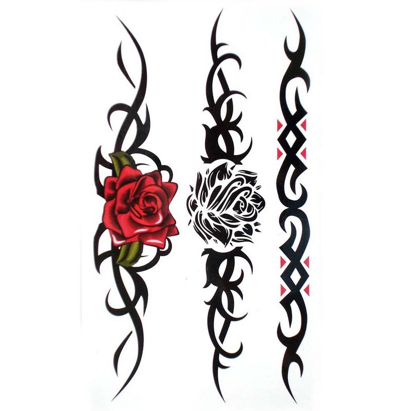 800x800 Rose And Tribal Tattoo Designs Tattoo Collection