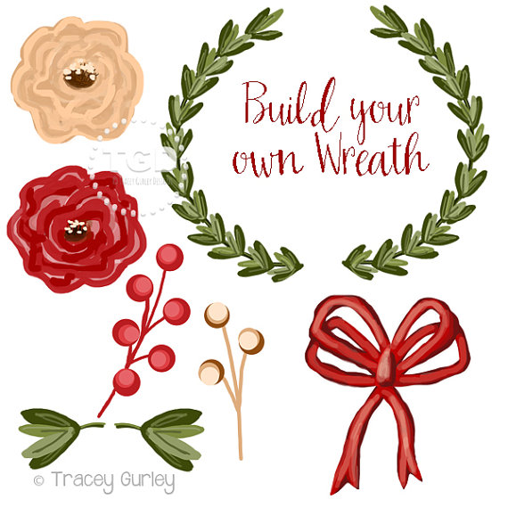 570x570 Wreath Clip Art Invitation Art Holiday Clip Art Diy Wreath