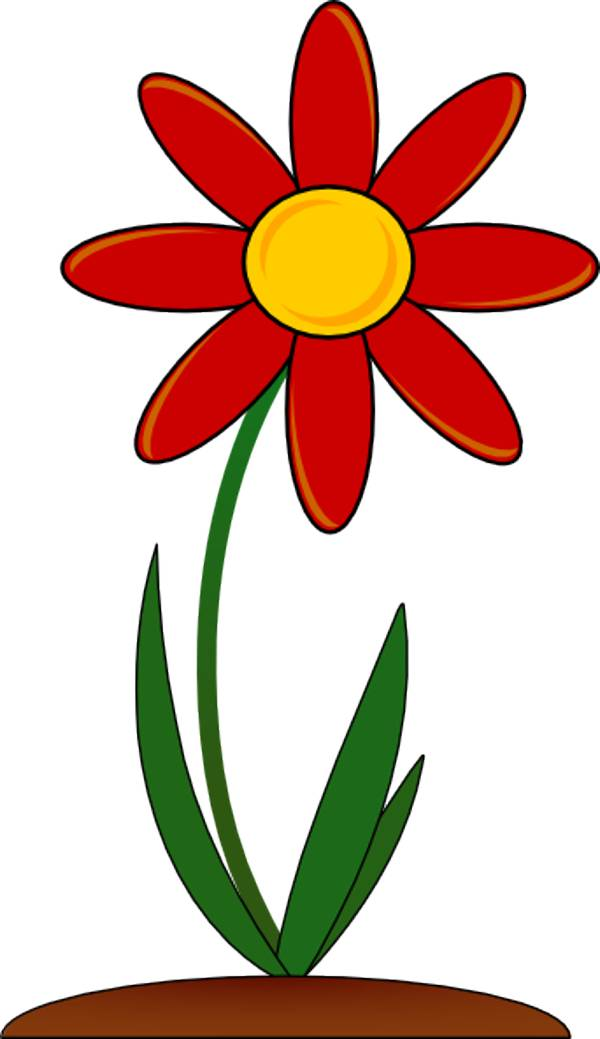600x1039 Red Rose Clipart
