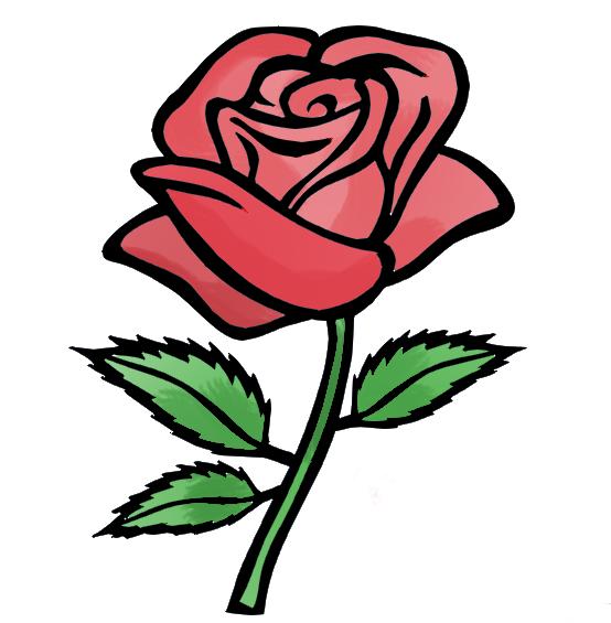 554x565 Rose Clipart Easy Cartoon