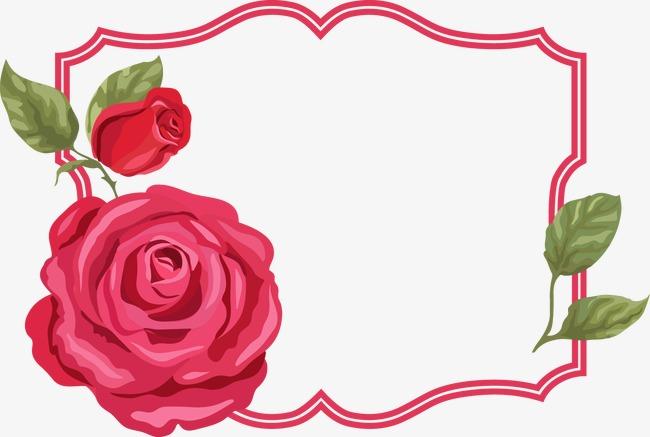 650x437 Cartoon Painted Roses Border, Cartoon, Hand Painted, Rose Png