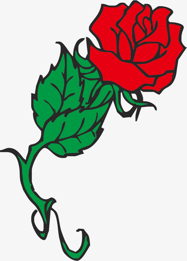650x906 Red Vector Rose, Simple Rose, Vector Rose, Cartoon Rose Png