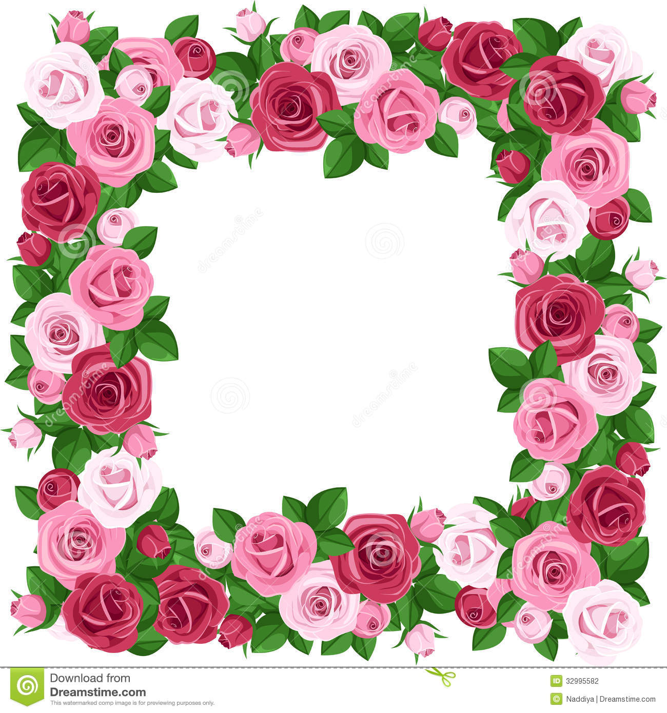 1300x1390 Free Pink Rose Clipart And Boarders