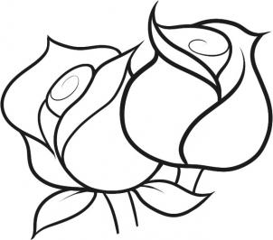 302x266 How To Draw How To Draw Roses For Kids