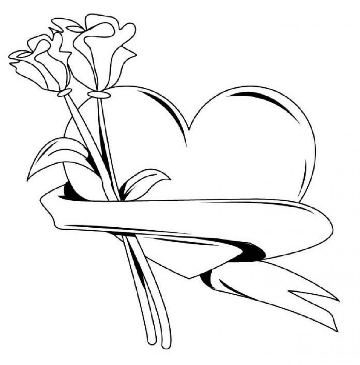 - Roses Drawings With Hearts Free Download On ClipArtMag