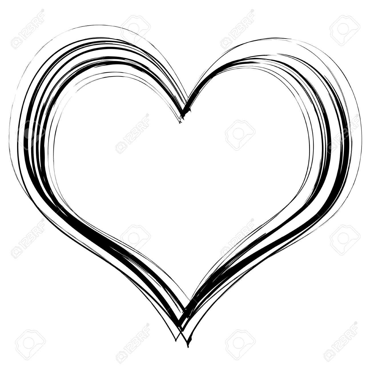 1300x1300 Black White Pencil Art Heart Picture I Love You Roses And Hearts