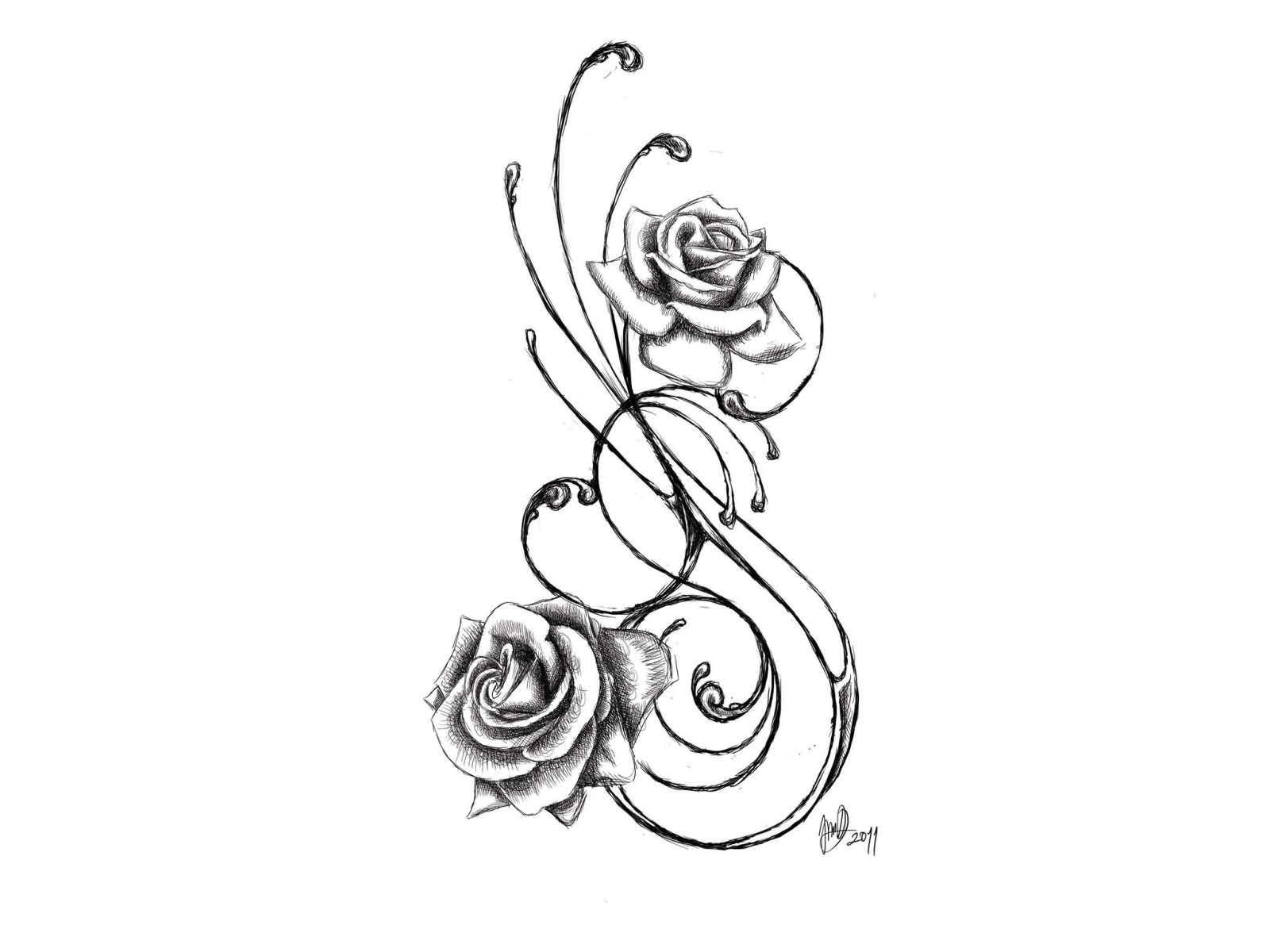 d0cbe92d1e63b 1600x1200 Best Ideas Of Tribal Roses Tattoo Designs Photos Pictures