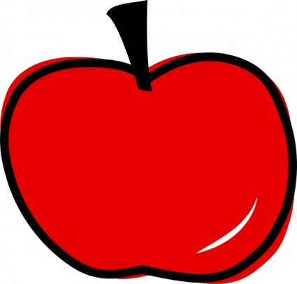 425x406 Apple Core Clipart