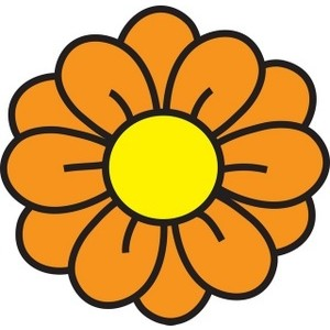 300x300 Orange Flower Clipart Round Flower