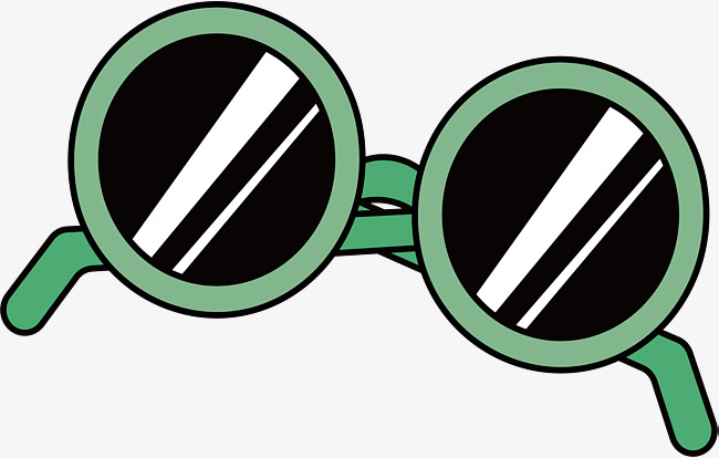 650x414 Green Border Glasses, Vector Png, Round Frame, Glasses Png