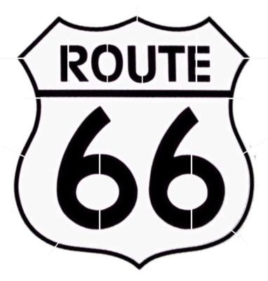 382x400 Iconic Route 66 Sign Stencil Stencils Stenciling