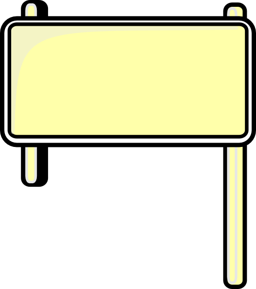 528x596 Highway Sign Blank Clip Art