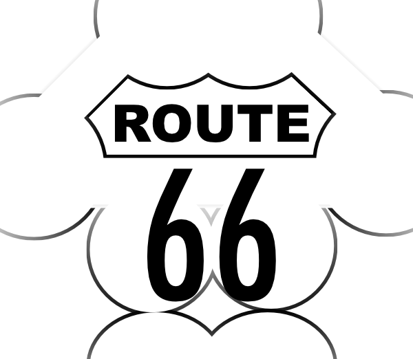 600x522 Route 66 Usa Highway Clip Art Free Vector 4vector