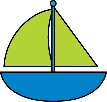 445x425 Cute Boat Clip Art Clipart