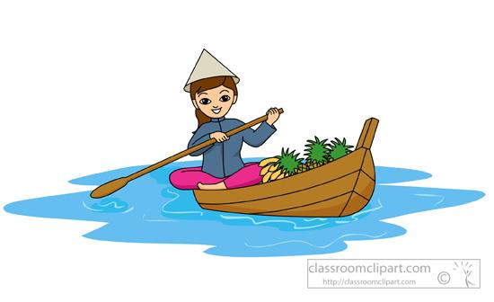 550x336 Girl Row Boat Clipart