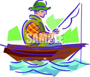 350x300 Guy, In A Row Boat, Fishing