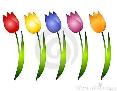 Row Of Flowers Clipart
