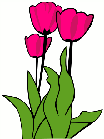 333x445 Tulips Tulip Clip Art A Row Of Tulips Tulip Images Clipart Image