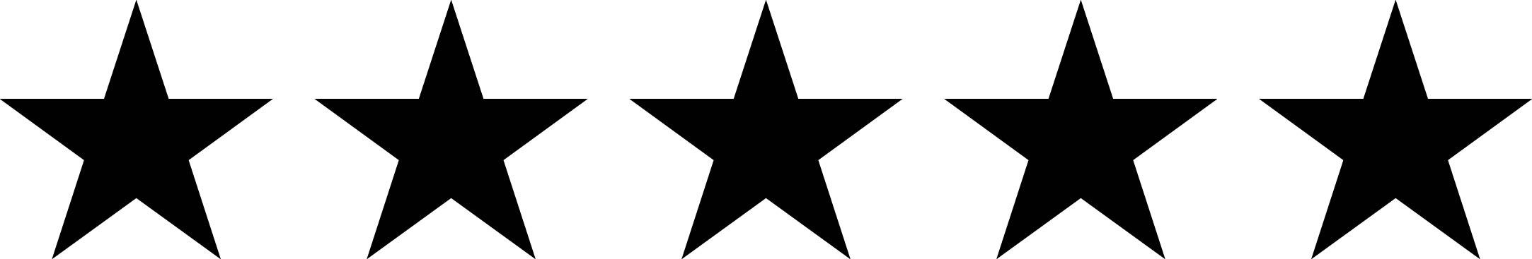 2165x367 Five Star Clip Art Clipart