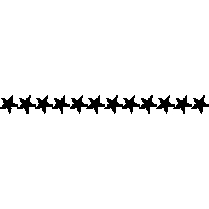 300x300 Line Of Stars Clipart