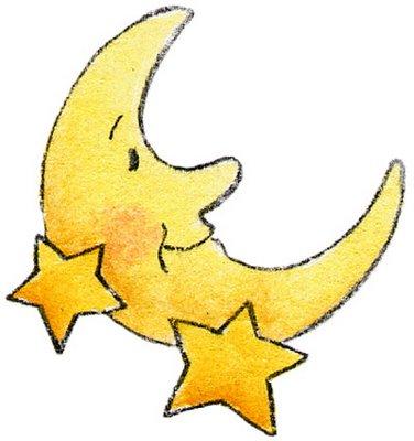 376x400 Moon And Stars Border Clipart