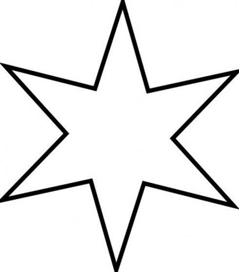 490x557 Star Clip Art Outline Black And White Clipart Panda