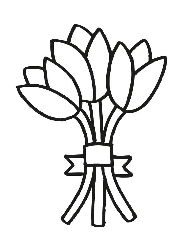 640x828 Bouquet Clipart Coloring