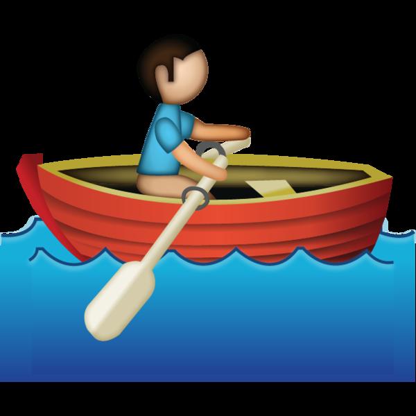 600x600 Download Man Rowing Emoji Emoji Island