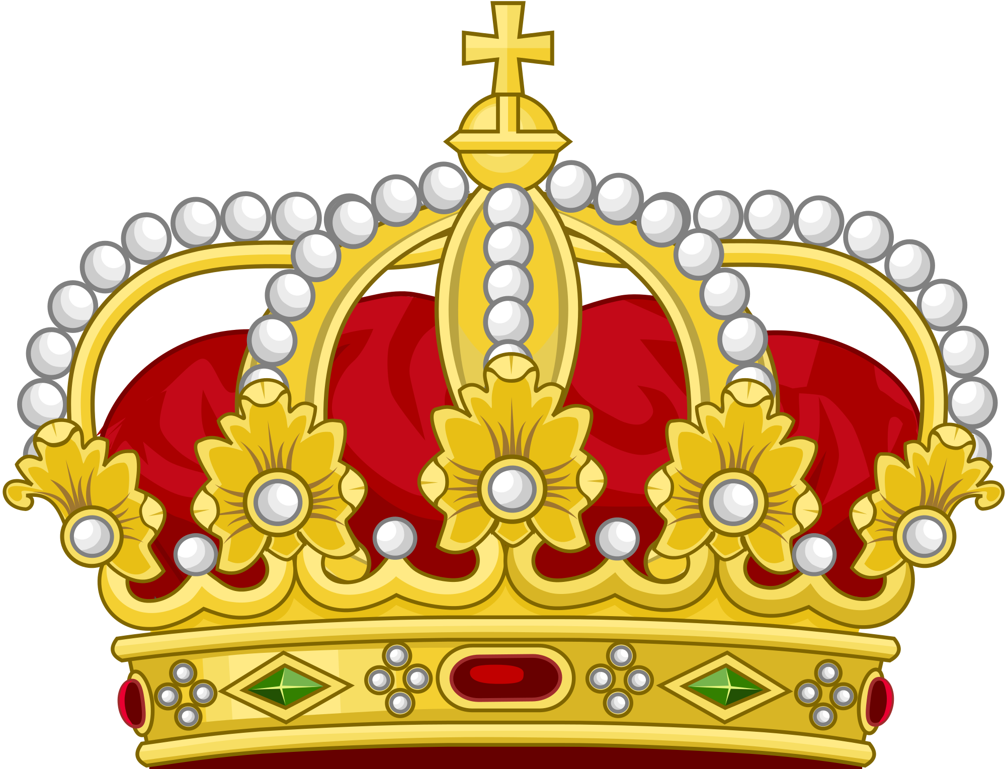 2000x1529 Fileheraldic Royal Crown Of The King Of The Romans (18th Century